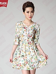 YUEMIAN™Women's Elegant And Noble Code Of Large Size Print Dress