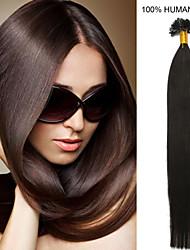 18-Zoll remy Nagelspitze Haar 0,5 g / s Echthaar Haarverlängerungen 18 Farben für Frauen Schönheit