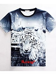 Women's High Quality Creative Special Animal Lovely Original Summer Breathable 3D Style T-Shirt——White Tiger