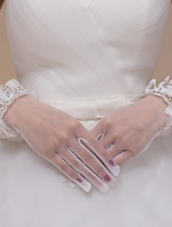Tulle Wrist Length Wedding/Party Glove Ivory