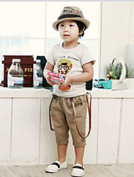 Boy's Cotton Medium Leisure Straps Shorts