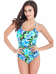Women's Summer Floral Print One Piece Swimsuit