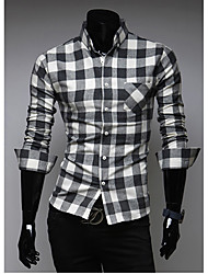 SaiDan Men's Casual Long Sleeve Casual Shirts