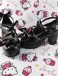 ga hecho a mano del color 7.5cm zapatos de tacón dulce lolita