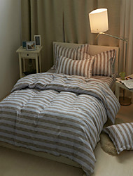 Grey Cotton Polyester King Duvet Cover Sets