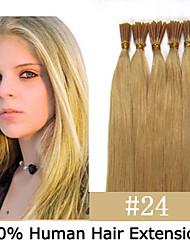 3 Satz 18 Zoll Keratin Stockspitze / i Spitze 0,5 g / s malaysische Menschenhaarverlängerungen 14 Farben für Frauen Schönheit
