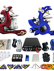 solong tattoo beginners kit 2 roterende tattoo machine met een vrije gift van 20 tatoeage-inkten