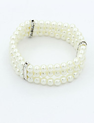 XIXI Women's The Newest Fashion Casual Gold Plated/Rhinestone Chain Bracelet/Imitation Pearl Statement