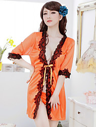 Sexy temptation milk silk loose large code pajamas suit(Give T pants)