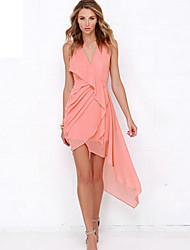 Women's Bodycon/Party/Work Micro-elastic Midi Dress (Polyester)