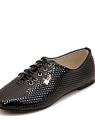 Women's Shoes Flat Heel Closed Toe Oxfords Casual Black/White