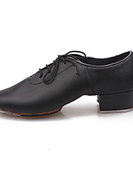 Non Customizable Men's / Kids' Dance Shoes Leatherette / Synthetic Leatherette / Synthetic Tap Heels Low HeelBeginner / Professional /