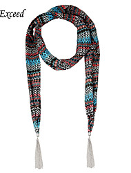 D Exceed Shawls And Scarves 3 Colors Luxury Ethnic Print Chiffon Scarf Necklaces For Women's Winter Jewelry Scarfs