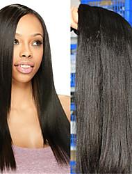 "3Pcs/Lot 10""-30"" Indian Virgin Hair Color Natural Black Yaki Straight Human Hair Weaves"