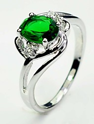Size 6/7/8/9/10 High Quality Women Green Sapphire Rings 10KT White Gold Filled Ring