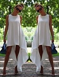 MuZi Women's Irregular Hem Sleeveless Dress