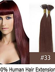 16 Zoll Keratin Stockspitze / i Spitze 0,5 g / s malaysische menschliche Haarverlängerungen 14 Farben für Frauen Schönheit