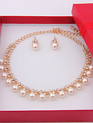Bridal Wedding Bridesmaid Crystal Earrings Necklace Jewelry Sets