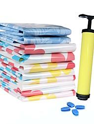 espace de motif de fleur économiseur vide comprimé sacs de stockage Set w / pompe à air (10 pcs)