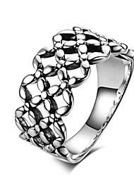 Fine Jewelry Korean Version of Hollow Flower 925 Sterling Silver Wedding Rings for Women