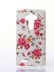 Pour Coque LG Motif Coque Coque Arrière Coque Fleur Flexible PUT pour LG LG G4 LG G3 LG G3 Beat / G3 Mini