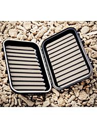 m&x espuma fenda portátil à prova d'água dupla face enfrentar caixa de isca de pesca caixa de voar (13.5 * 8 * 4 centímetros)