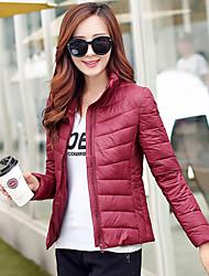 WeiMeiJia Women's Stand  Rayon Bodycon Long Sleeve Coats & Jackets