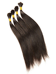 Soyeux cheveux en vrac 3pcs / lot droite tressage humaine cheveux en vrac droite pour le tressage brésiliens extensions de cheveux en vrac