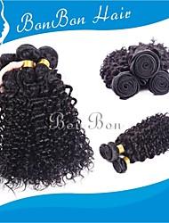 cabelo humano indiano tecendo 4pcs cacheados excêntricas