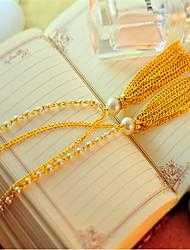 Korean Fashion Pearl Long Tassel Sweater Chain Cute/Casual Imitation Pearl Pendant Necklace
