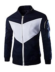 Men's Slim Fit Stand Collar  Jacket