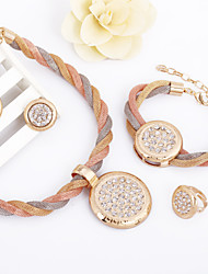 WesternRain New Fashion Fill the diamond Special Big Pendant Crystal Women Charms Dubai African Jewelry Set