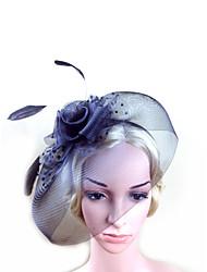 2015Women's Feather/Tulle Headpiece - Wedding/Special Occasion Fascinators 1 PieceHA5625