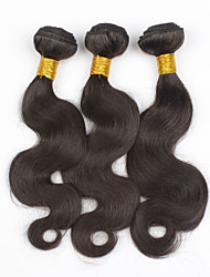 "3Bundles 8""-28"" Peruvian Body Wave Virgin Hair Wefts Natural Color Unprocessd Virgin Human Hair Weave Wavy Bundles"