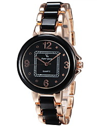 Lady Fashion Alloy Rose Gold Fashion Watch