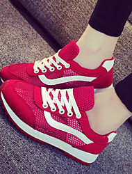 Canvas Lady Women's Shoes Black/Grey/Red/White Wedge Heel 0-3cm Fashion Sneakers