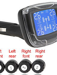 TPMS Wireless Tire Pressure Monitoring System with 4 Sensors & LCD Display