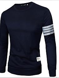 T-Shirts ( Coton / Viscose ) Informel / Soirée Rond à Manches longues pour Homme