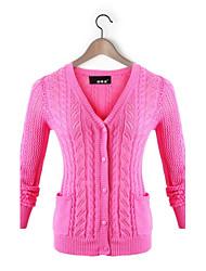 casual / travail à manches longues pull, moyen de tricots pour femmes