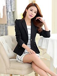 Women's Long Sleeve Blazer , Cotton/Twill Short Casual