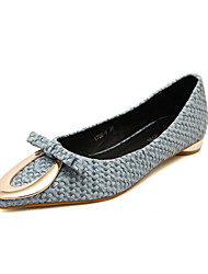 Women's Shoes Synthetic Flat Heel Comfort Flats Outdoor Black/Blue/White