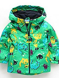 Girl's Cotton/Polyester Sweet Leisure Long Sleeve Hooded Jackets