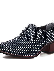 Oxfords ( Cuero , Negro/Azul/Marrón Zapatos de hombre