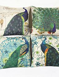 pavão capa de almofada decorativo (17 * 17 polegadas)