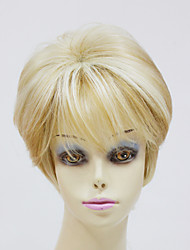 Capless Top Grade Synthetic Short Straight Womens Wigs For Lady