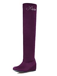 Women's Boots Winter Comfort Fleece Office & Career Casual Athletic Low Heel Sparkling Glitter Black Purple Yellow Blue Hiking Walking