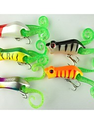 "5pcs pcs Popper de Pesca / Iscas Popper de Pesca Others 10.2 g/3/8 Onça mm/2-1/4"" polegada,Plástico DuroPesca de Mar / Pesca de Água Doce"