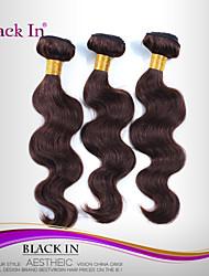 """3 Stück lot 12 """"-30"""" brasilianische Körperwelle reine Haareinschlagfäden chocolate brown remy Menschenhaar Webart Verwicklung frei"""