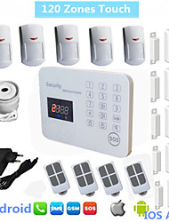 120 Zone Wireless Gsm Alarm Systems Security Home Alarme Maison System With Voice LCD