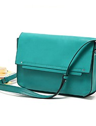 Women 's PU Envelope Shoulder Bag - Green